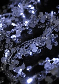 11.00 SALE PRICE! Garnish your Christmas banquet or winter wedding reception in icy elegance. The LED Lighted Crystal Garland embellishes your decorated tabl...