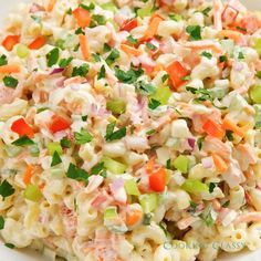 The BEST Macaroni Salad recipe! Easy, delicious and perfect side dish any time of year! The BEST Macaroni Salad recipe! Easy, delicious and perfect side dish any time of year! Best Salad Recipes, Healthy Summer Recipes, Pasta Recipes, Dinner Recipes, Cooking Recipes, Best Mac Salad Recipe, Easy Food Recipes, Easy Pasta Salad Recipe, Salad Recipes Video