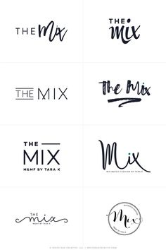 The Mix By Tara - Logos R1 - logo design, wordpress theme, mood board inspiration, blog design idea, graphic design, branding, style blog, fashion