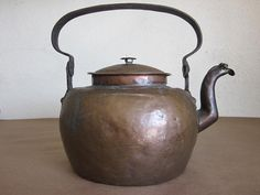 Antique 1800s Dovetail Copper Teapot with Hinged by boivin628, $89.00