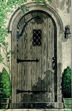 A page from the 1931 catalog shows the door for the Wardway Tudor Homes.