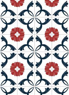 Adesivo de parede: azulejo onda: GECKO Adesivos Decorativos