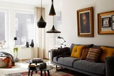 gray and gold (and some great lamps too)