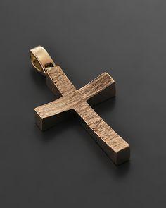 Σταυρός ροζ χρυσός Κ14 | eleftheriouonline.gr Wooden Crosses, Wall Crosses, Baby Baptism, Christening, Cross Jewelry, Cross Necklaces, Cross Art, Cross Paintings, Jewelry Design