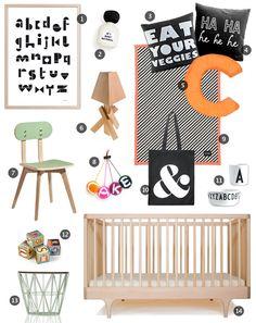 Spell yourself to sleep nursery mood board by Little Gatherer featuring Kalon's CARAVAN CRIB RAW