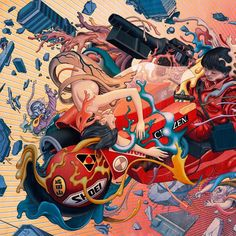 Akira  The rest of the image posted a few days ago. #Akira by jamesjeanart
