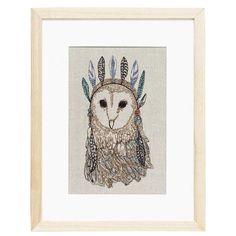 Owl Portrait Artwork