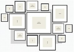 Picture Wall Layout Ideas | How To: IKEA Ribba Frame Gallery Wall |