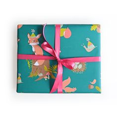 Woodland Party Gift Wrap - A set of three rolled sheets, 20 x 29 inches - Made in the USA #seaurchinstudio