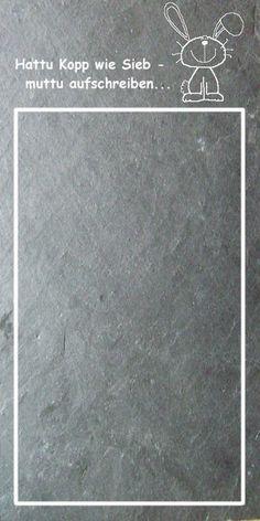 Weiteres - Memotafel aus Schiefer - ein Designerstück von DoJoKa bei DaWanda