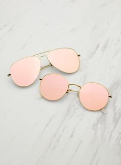 Pink Mirror Flat Lens Sunglasses $60. Hottest Styles. Free Shipping