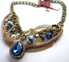 Betsey Johnson Layered skull  Necklace USA SELLER & FREE GIFT FREE SHIPPING…