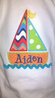 Fun Easy Sailboat Machine Applique Designs by ohhsooxford on Etsy, $4.00 www.appliquejunkie.com