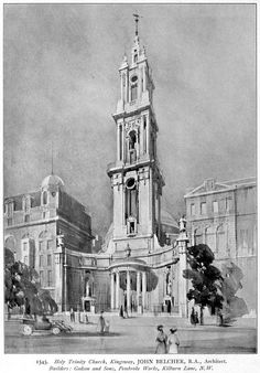 Holy Trinity Church, Kingsway. (Only the base was built). John Belcher #unbuiltlondon
