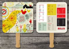 25 Inspiring Restaurant Menu Designs ,This site has a menu on a pizza serving board
