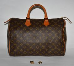 Louis Vuitton Monogram Canvas Speedy 35 Brown Satchel. Save 66% on the Louis Vuitton Monogram Canvas Speedy 35 Brown Satchel! This satchel is a top 10 member favorite on Tradesy. See how much you can save