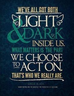 Light & Dark - Tap to see more inspiring magical quotes from Harry Potter! | @mobile9