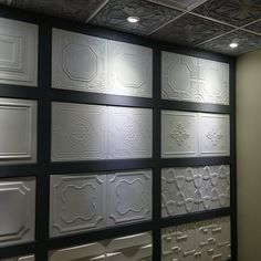 Styrofoam (Polystyrene) ceiling tiles showroom - Great selection of Polystyrene (Styrofoam) ceiling tiles. Ceiling Decor, Ceiling Design, Wall Design, 3d Wall Panels, Ceiling Panels, Styrofoam Ceiling Tiles, Drop Ceiling Tiles, Dropped Ceiling, 3d Wandplatten
