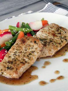 Ces temps ci en cuisine: Côtelette de porc au vinaigre balsamique