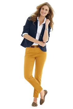Women's Fit 2 Slim Ankle Chino Pants from Lands' End