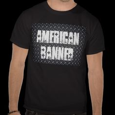 American Banned Black Diamond Men's Black T-shirt from www.zazzle.com/americanbannedtshirt