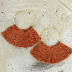 Casual Classic Summer Jewelry: Tassel Hoop earrings.