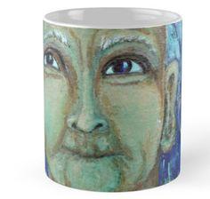 Auntie Ebb mug ~ http://www.redbubble.com/people/elizafayle/works/13682796-auntie-ebb?p=mug  #woman #old #elderly #wise #crone