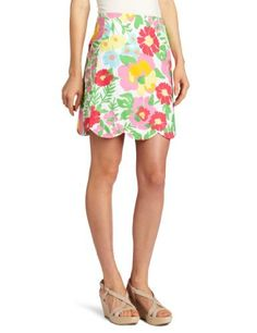 Lilly Pulitzer Women's Lynnie Knee Skirt, Resort White Big Garden By The Sea, 10 Lilly Pulitzer, http://www.amazon.com/dp/B006TA91IC/ref=cm_sw_r_pi_dp_wlK0pb02GNNVB