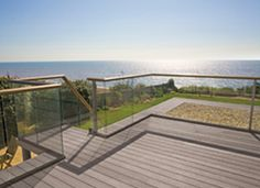 wood composite decking with handrail