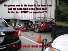 I can tell when someone is texting. YOU KEEP HITTING YOUR BRAKES!! Get off the phone and PAY ATTENTION. The next time I am not the driver and see this...IM TAKING YOUR PICTURE!!!