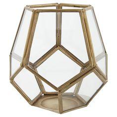 Tesco direct: Tesco small gold pentagonal tea light holder