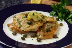 Today I am sharing with you my Chicken Piccata recipe! The capers and lemon juice give this Chicken Piccata dish a fresh, delicious flavor that will leave you wanting more! Chicken Piccata, Chicken Cutlets, Italian Dishes, Italian Recipes, Turkey Cutlets, Turkey Dishes, Recipe Steps, Stuffed Hot Peppers, Recipe Today