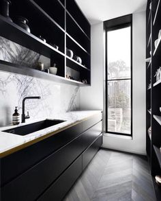 Contrasting Shadowlines - Want to add some 👊🏻 to your cabinetry? Contrasting your shadowlines in another colour or material is a fabulous way to add that finishing detail and give your home a designer feel 👌🏻💃🏼 • Z + S tip • Matching your shadowlines to your tapware gives your space that designer edge, whilst remaining cohesive. Follow us on Instagram and Pinterest for more design tips and inspo.