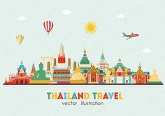 Thailand detailed skyline
