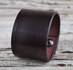 Earthy Brown Leather Wrist Cuff by Northernleather on Etsy