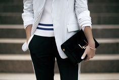 Oracle Fox wearing Dion Lee Line II   #saintlaurent #bag #jacket