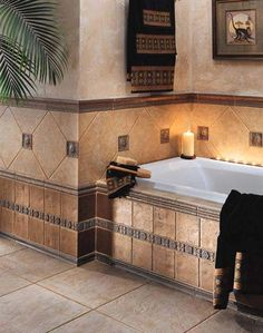 Country Elegance Impressing Bathroom Tile Ideas in Natural Style -Crossville