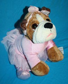 Russ Stuffed Dog She's Tutu Ador A Bull!  This Plush Pink Balleria Bulldog by Zelda Wisdom will be loved by all.  She's a great dog for any bulldog lover. #Russ #Bulldog