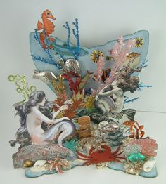 Artfully Musing: Mermaid Scene, New Collage Sheet and a Giveaway