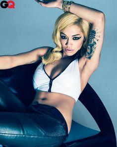 I like her tat! Rita Ora Photos - GQ August 2012: Photos: GQ