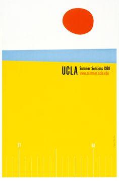 UCLA poster by AdamsMorioka