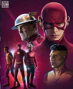 by The Flash Family. But room for more. Based on art by Micheal Turner. Superhero Cosplay, Superhero Movies, Comic Movies, Heroes Dc Comics, Flash Comics, Flash Tv Series, Cw Series, Marvel Avengers, The Flash Poster