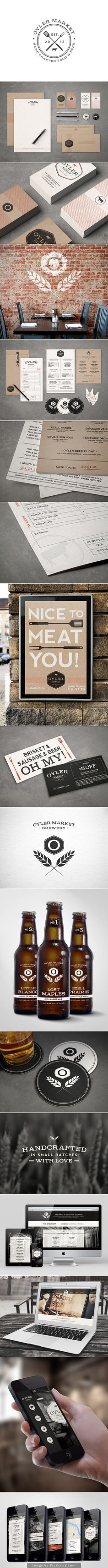 Lunchtime at Oyler Market #identity #packaging #branding curated by Packaging Diva PD - created via https://www.behance.net/gallery/Oyler-Market-Barbecue-Brewery/12801457