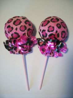 CHEETAH PRINT PINK BLACK GIRL SCRATCH MITTEN LOLLIPOPS  BABY SHOWER DIAPER CAKE