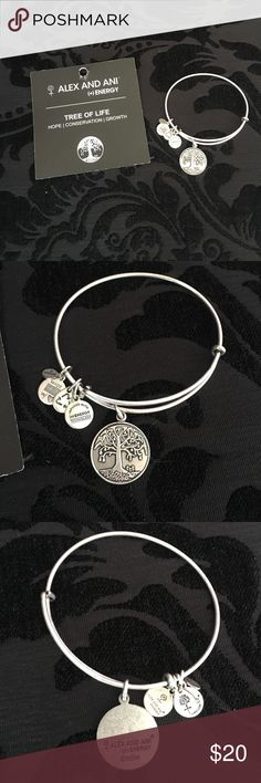 "Alex and Ani tree of life Silver Alex and Ani ""tree of life"" hope, conservation, growth. Worn once. Offers welcome  Alex & Ani Jewelry Bracelets"