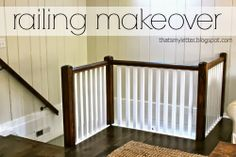 R is for Railing Makeover - Thats My Letter
