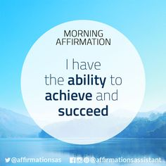 """Affirmation: """"I have the ability to achieve and succeed"""" #successtrain #joytrain #ThriveTOGETHER #abundance #positive #lawofattraction #affirmation #affirmations #positiveaffirmations #positiveaffirmation #success #happiness #motivation #motivational #abundant"""