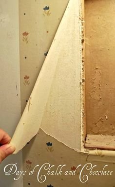 I feel like we're gonna need this one day.Days of Chalk and Chocolate: How to Remove Wallpaper Home Helpers, Cleaning Painted Walls, Home Repair, Wall Colors, Colours, Home Projects, Remove Wallpaper, Home Remodeling, Home Improvement