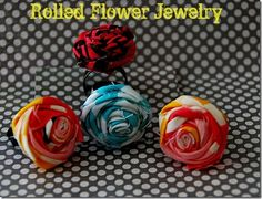 Make jewelry with fabric flowers