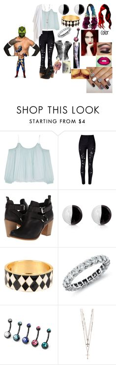 """A hardy and the Masked Man(Sin Cara(Hunico) Love Story)"" by anaeve ❤ liked on Polyvore featuring Elizabeth and James, Report, Antica Murrina, Adia Kibur, Blue Nile, River Island and Eileen Fisher"